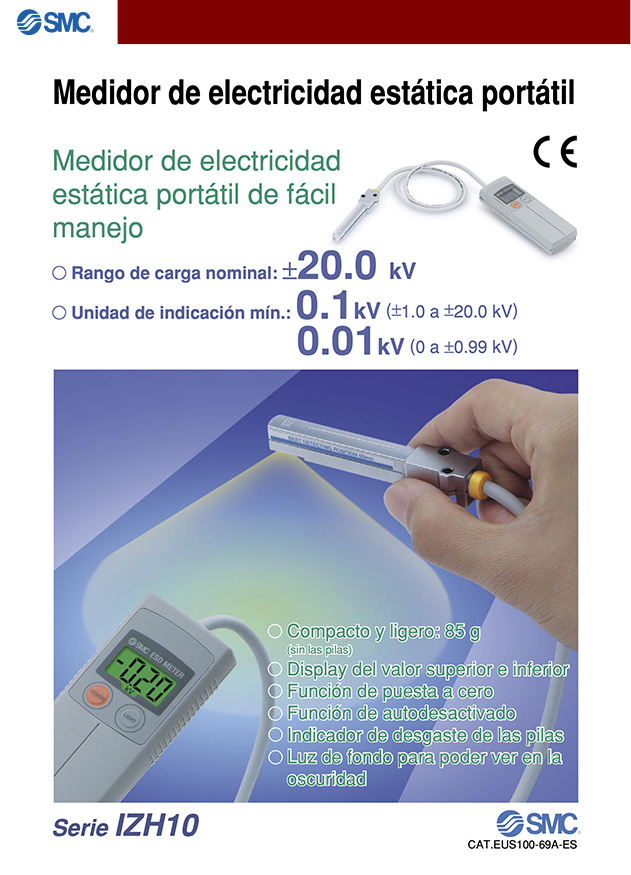 medidor electrostático portátil de SMC